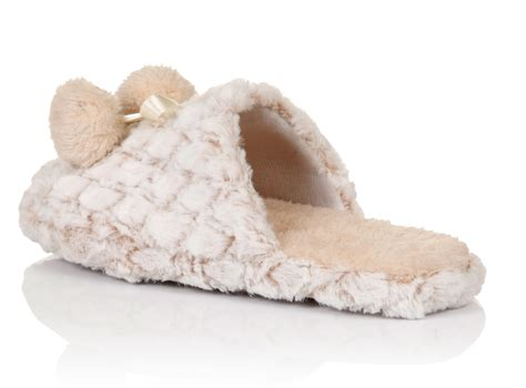 womens luxury slippers womens luxury faux fur slippers pom pom mules shoes