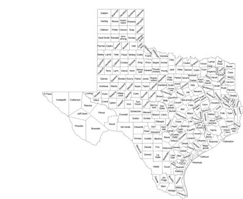 map of texas counties with names texas county map with county names free