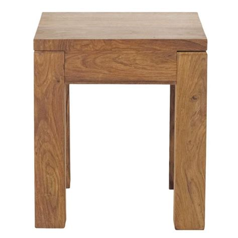 Wood Side Table Solid Sheesham Wood Side Table W 40cm Stockholm Maisons Du Monde
