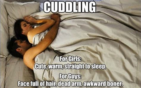 how to cuddle with a guy in bed the 10 struggles of cuddling with your significant other