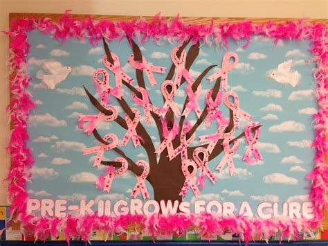 Breast Cancer Awareness Decoration Ideas Breast Cancer Awareness Bulletin Board Bulletin Boards