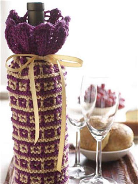 knitting pattern wine bottle cover knitted wine bottle cover patterns a knitting blog