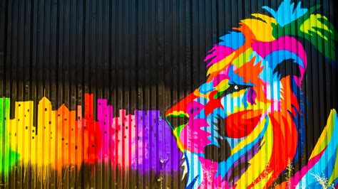 colorful graffiti wallpaper download wallpaper 1600x900 colorful paint fence