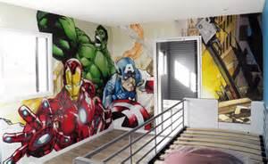 Avengers Bedroom Theme Popek Graffiti Artiste D 233 Coration A 233 Rosol