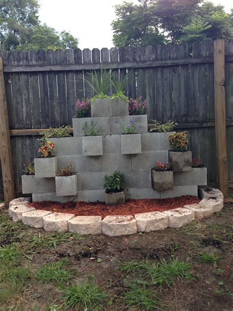 cinder block garden wall our newest addition to the