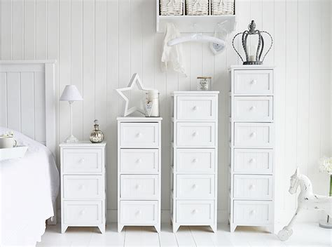 Bedroom Storage The Range Maine Slim Tallboy Chest Of 6 Drawers White Bedroom