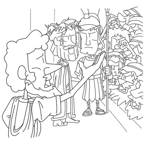 coloring page jesus before pilate christian cliparts net jesus before pilate