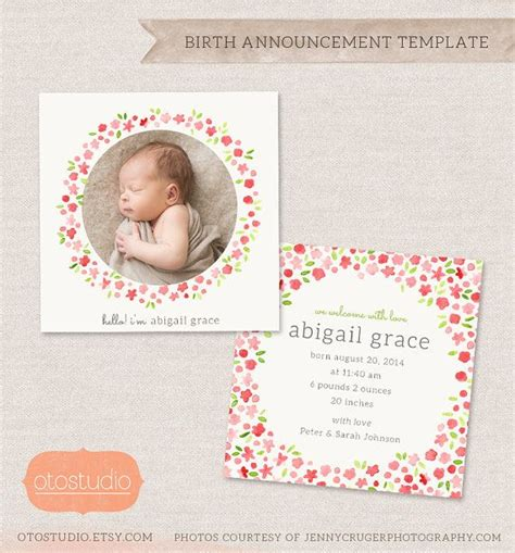 birth announcements card templates best 25 birth announcement template ideas on