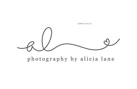 handwritten logo design for photographers alicia lane