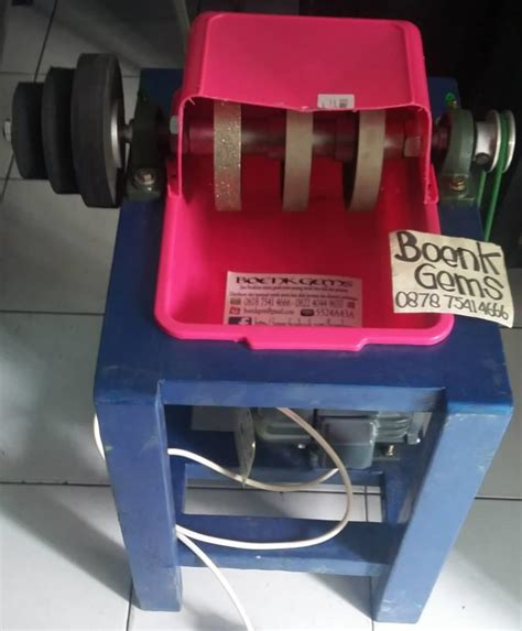 Meja Gosok Kayu jual mesin gosok poles batu akik single rangka kayu harga murah jakarta oleh toko boenkgems