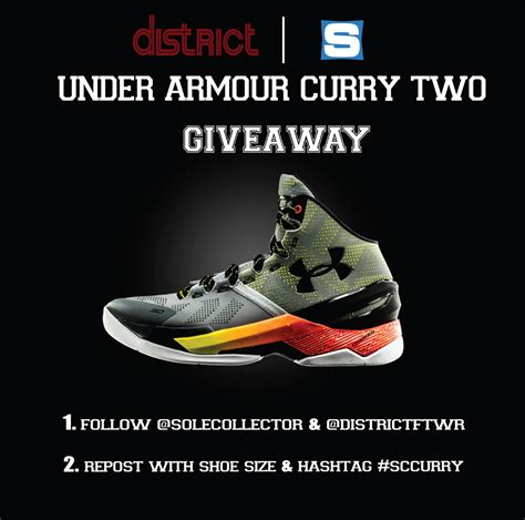 Tv Giveaway Flyer - win a free pair of under armour curry twos from district footwear djscreamtv com