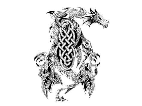 dragon warrior tattoo designs collection of 25 and sword designs