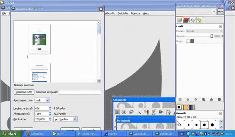 gimp tutorial in pdf tutorial gimp come convertire un file pdf in un immagine