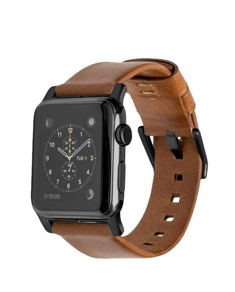 Nomad Modern Build Leather Apple 42mm Black Buckle buy nomad horween leather for apple 42mm