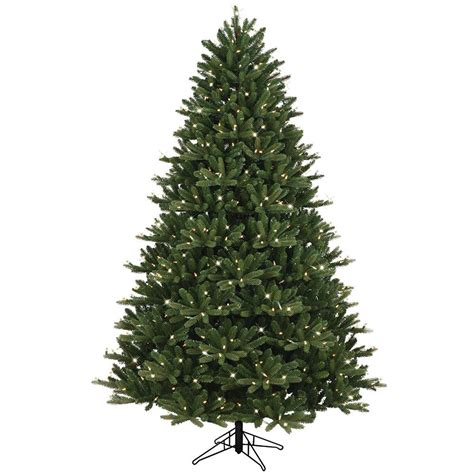 ge 9 ft pre lit led energy smart spruce artificial christmas tree ge 7 5 ft just cut ez light frasier fir dual color led 17161hd the home depot