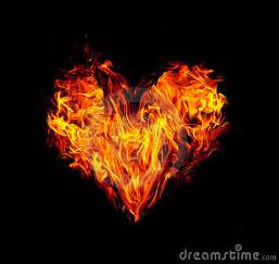 fire heart royalty free stock images image 19723209