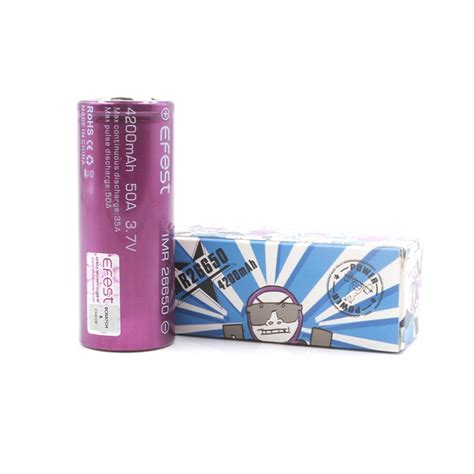 Efest Imr 26650 Battery 4200mah 3 7v 50a Flat Top 26650v1 Purple Ungu single efest purple imr 26650 battery 4200mah rechargeable batteries mods batteries