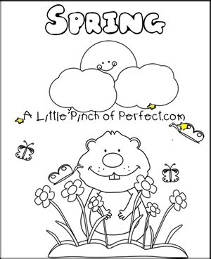 preschool coloring pages for groundhog day groundhog day free printables coloring pages
