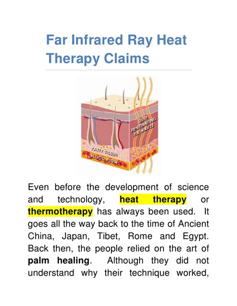 infrared heat l therapy far infrared ray heat therapy claims