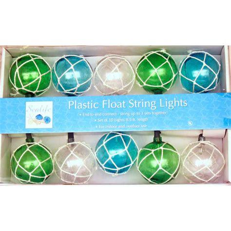 Glass Float String Lights Vintage Glass Style Buoy Float Electrig String Lights
