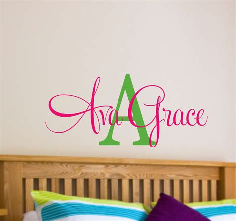 Wall Name Decals For Nursery Name Wall Decal Name Wall Decal Nursery Wall Decal