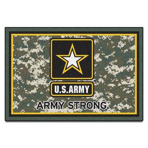 army rug fanmats u s army 5 ft x 8 ft area rug 7185 the home depot