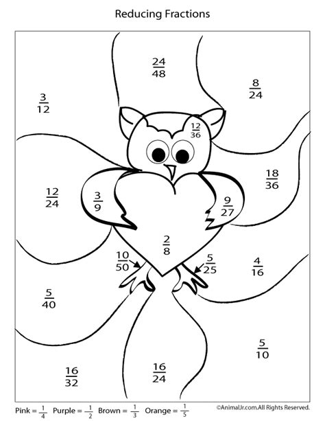 Fraction Coloring Page 5th Grade by Printable S Day Multiplication And Fractions