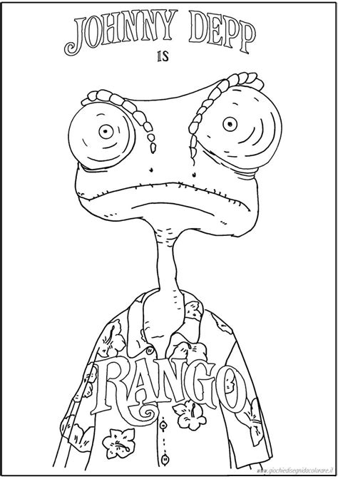 Coloring Pages Rango Coloring Pages With Fish Page Rango Rango Coloring Pages