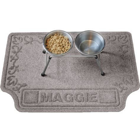 Personalized Bowl Mat by Personalized Pet Mat In Pet Bowls