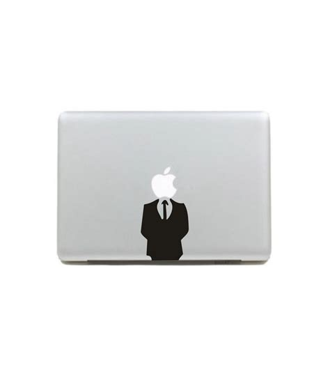 Decalandsticker Vinyl Macbook Hitam vinyl decal sticker skin headless black and white