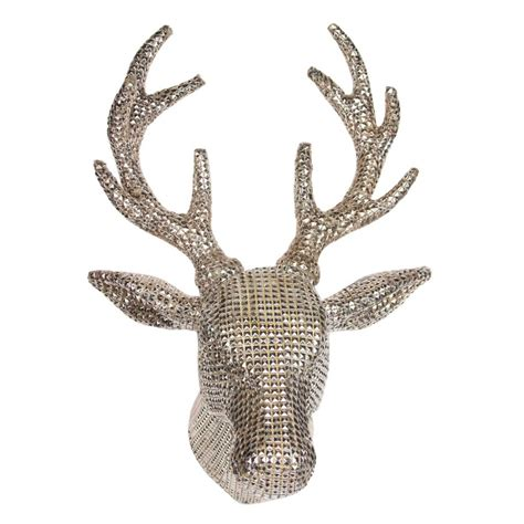 christmas decorations with deer head pic decorating the home at