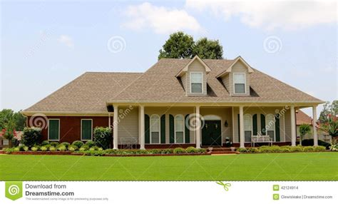 two story ranch beautiful two story ranch style home stock photo image