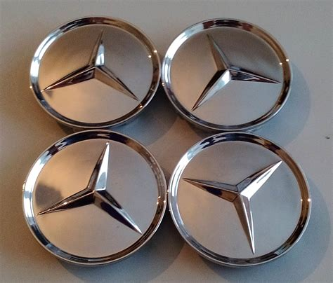 Bmw Nabendeckel Aufkleber 68mm by 4 Mercedes Nabendeckel 68mm Silber Chr Embleme Logo