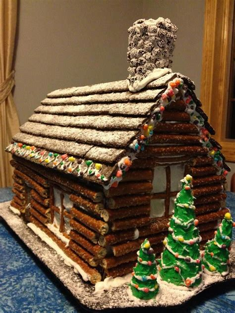 log cabin gingerbread house designs pretzel log cabin christmas new year s eve and thanksgiving fabulous recipes