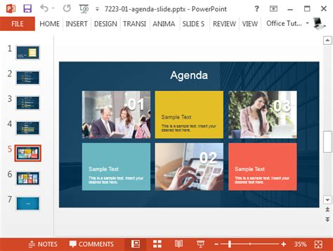 Best Agenda Slide Templates For Powerpoint Microsoft Powerpoint Agenda Template