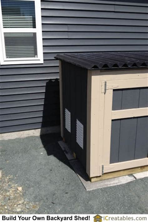 Shed For Portable Generator by Air Intake Vents On Generator Shed Plan Home Projects