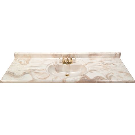 Marble Vanity Tops With Sink by Shop Style Selections Caramel Caramel Cultured Marble