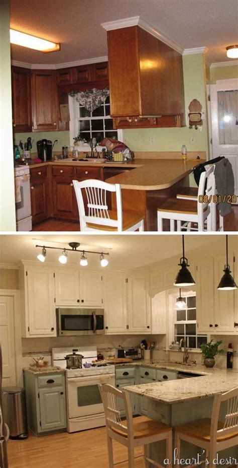 kitchen makeovers ideas before and after 25 budget kitchen makeover