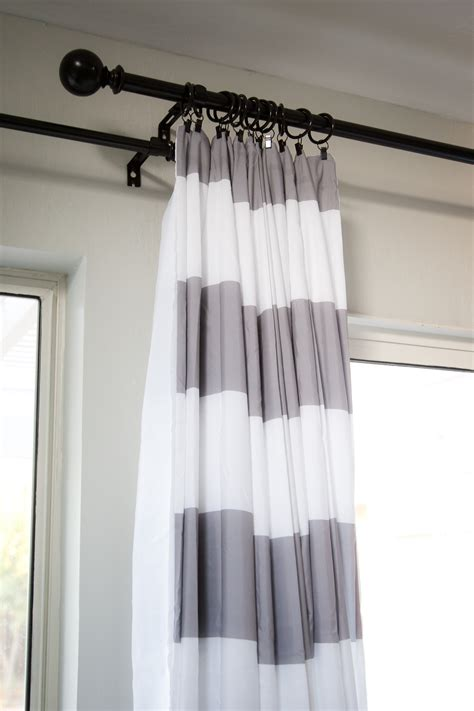 White And Gray Striped Curtains Gray And White Striped
