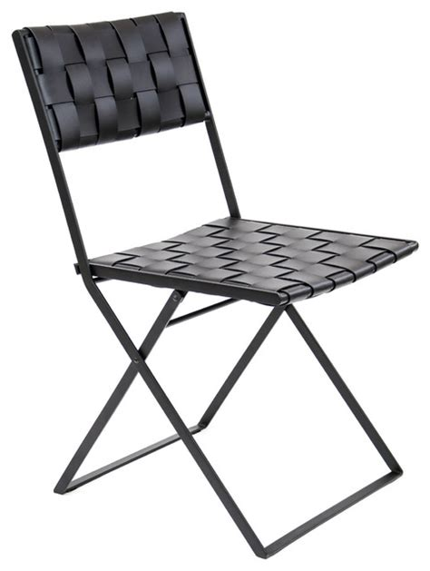 contemporary folding chairs lina leather folding dining chair contemporary folding