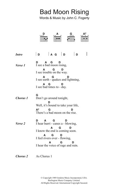 Guitar Chords For Bad