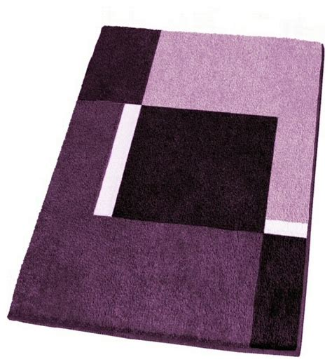 Large Bathroom Rugs And Mats Modern Non Slip Washable Purple Bath Rugs Large Modern Bath Mats Other Metro By Vita Futura