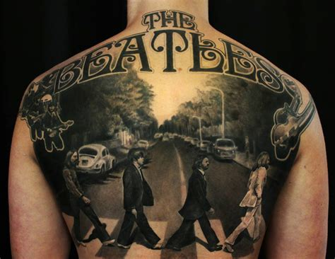 road tattoo designs the beatles road back best