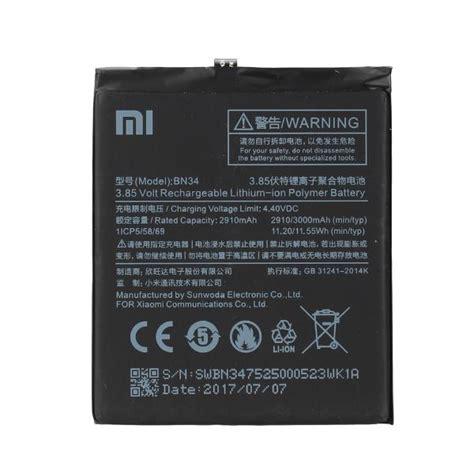 Xiaomi Redmi 5a Original original battery bn34 xiaomi redmi 5a 3000mah