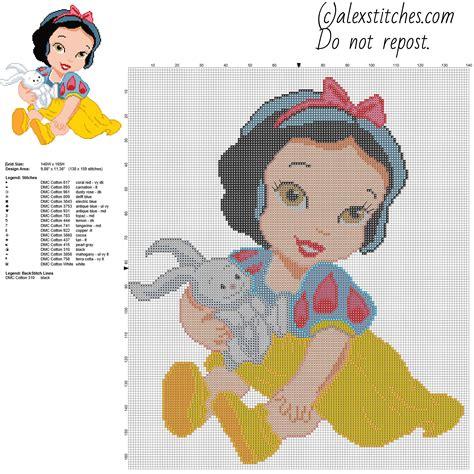 snow white pattern free disney baby princess snow white free cross stitch pattern