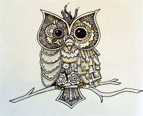 doodle owl steunk owl ink doodle by amandaruthart on deviantart