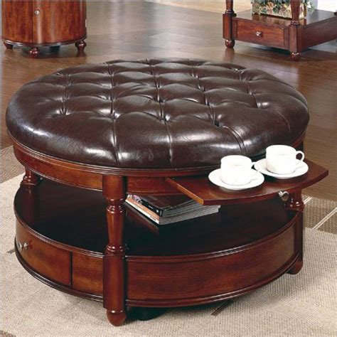 leather ottoman cocktail table inspiring black leather ottoman coffee table for your