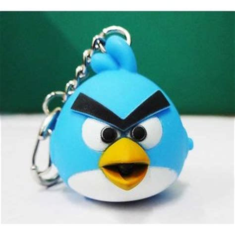 Led Angry Bird angry birds led keychain with sound bright led light bird sound effects