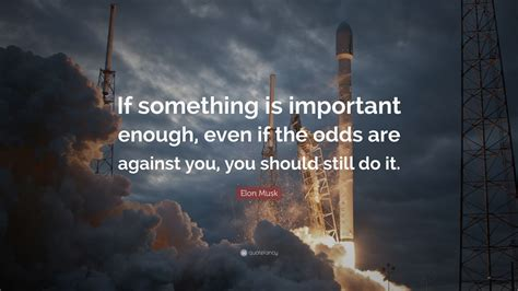 elon musk wallpaper elon musk quote if something is important enough even