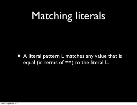 scala pattern matching any intro to pattern matching in scala